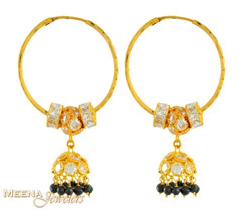 Chandelier Hoop Earrings 22kt Gold Hoop Earring With Chandelier Erhp3209 22kt