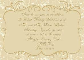 50th Wedding Invitation Templates by Anniversary Invitations Golden Wedding Anniversary