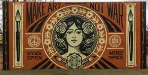 Banksy Wall Murals santa fe university x shepard fairey obey giant