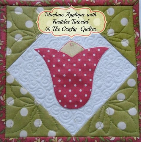 tutorial applique applique part 3 machine applique stitches the crafty