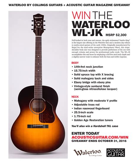 Gm Financial Sweepstakes - acoustic guitar waterloo contest enter online sweeps