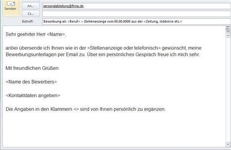 Email Schreiben Muster Bewerbung Per Email Muster Yournjwebmaster