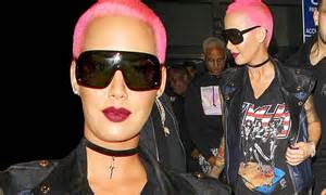amber rose pink jeep amber rose debuts her new pink hair colour that
