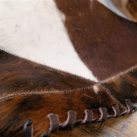 Cowhide Runner Rug Runner Stitch Cowhide Rug Chocolate 1 X 6 Rugs Touch Of Modern