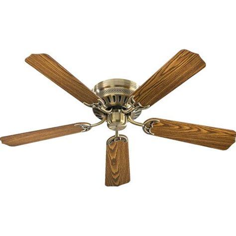 52 inch hugger ceiling fan quorum international custom hugger antique brass 52 inch