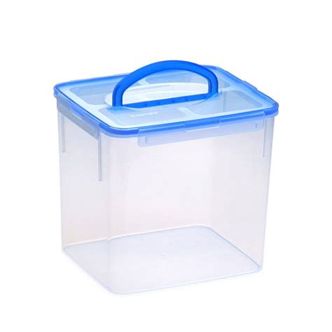 snapware containers snapware airtight rectangle storage container w handle 9 5l blue fast shipping