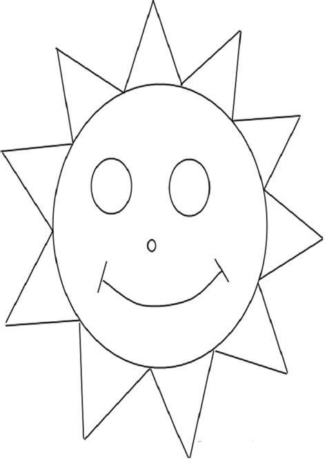 sol para recortar el sol dibujos para colorear