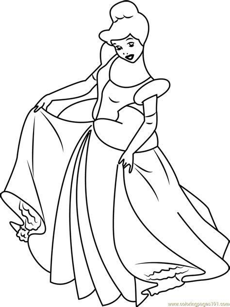 cinderella dress coloring pages free coloring pages of cinderella dress