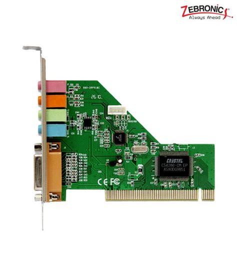 Pci Sound Card 41 Silver zebronics 4ch pci sound card buy zebronics 4ch pci sound card at low price in india