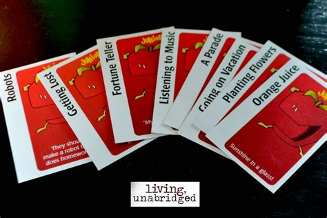 apples to apples template card for free 52 family nights apples to apples living unabridged