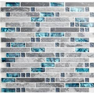 Tiles sea glass blue wave patterns natural stone bathroom wall mosaic