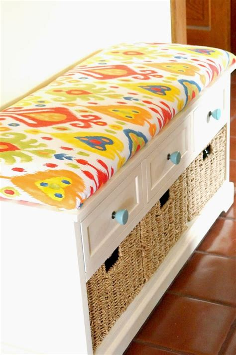 how to make a seat cushion for a bench diy no sew bench cushion