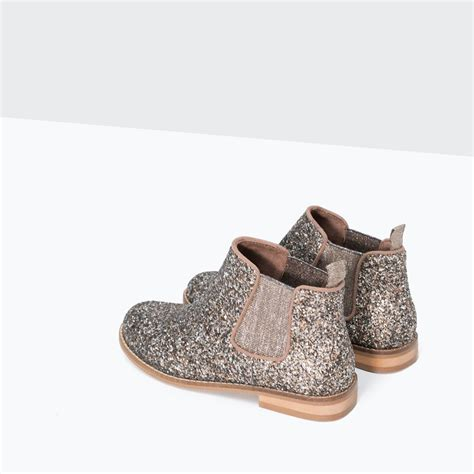 zara shoes kid glitter ankle boots shoes 4 14 years zara