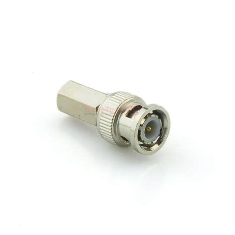 Bnc Konektor Cctv bnc twist on rg59 connector for cctv coax coaxial security cameras ebay