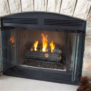 gas fireplace embers home depot emberglow oak 18 in vent free propane gas