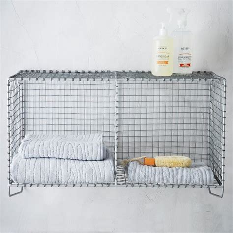 Wire Bathroom Shelves Wire Mesh Storage Hanging Shelf Contemporary Bathroom Cabinets And Shelves By