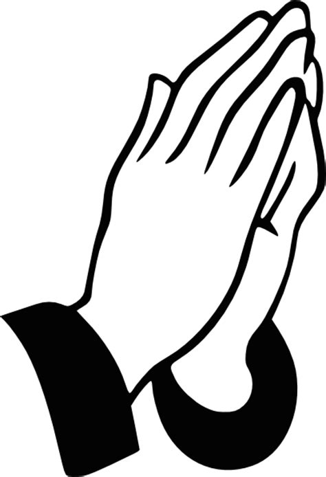 praying hands clip art at clker com vector clip art