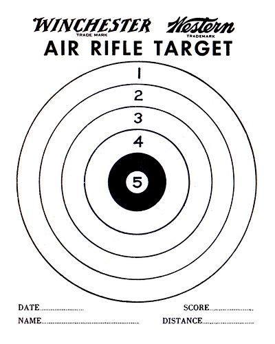 printable shooting targets for bb guns air gun targets printable air rifle target pdf printable