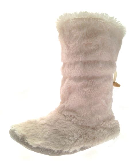 womens boot slippers womens bootee socks faux fur boots booties