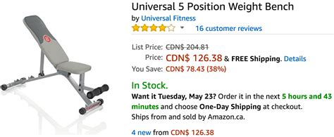 universal 5 position weight bench amazon canada deals save 72 on waterproof bamboo