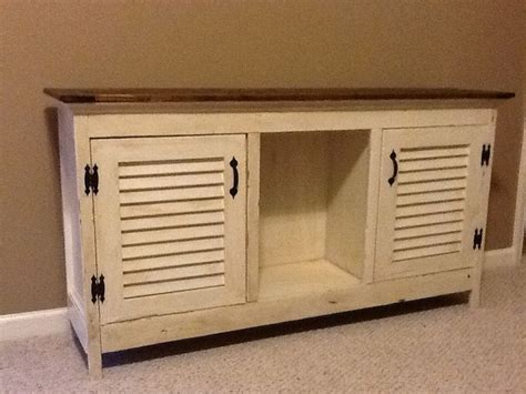 Shuttered Door Tv Stand by Tv Stand Repurposed Shutters For Doors Shutters