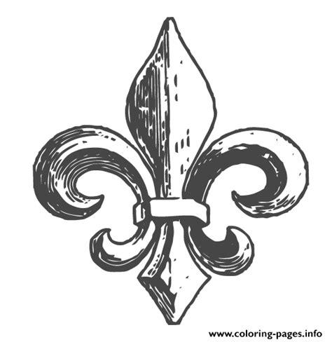 tattoo fleur de lys quebec fleur de lys quebec coloring pages printable