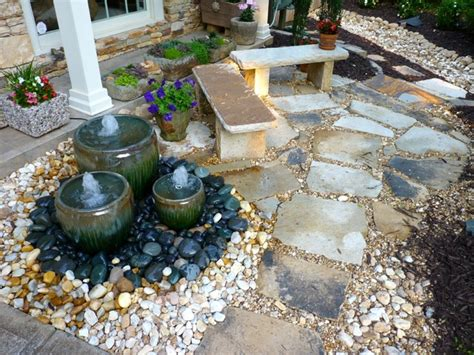 yard features front yard water feature by outdoor makeover traditional