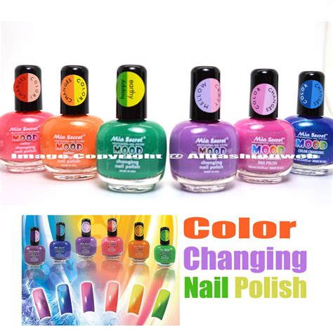 what nail polish colors are in for older women 6 full set mia secret mood color changing nail polish