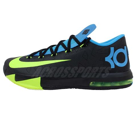 kd basketball shoes 2014 nike kd vi 6 kevin durant black blue volt air max 2014