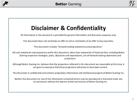 advice disclaimer template bettor systems gaming