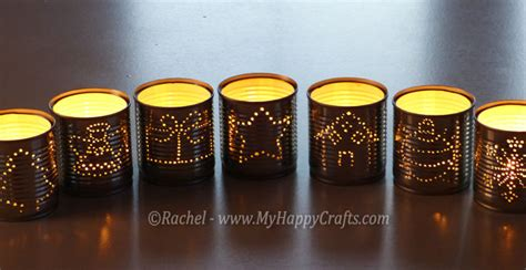 diy christmas luminaries candle holders made from