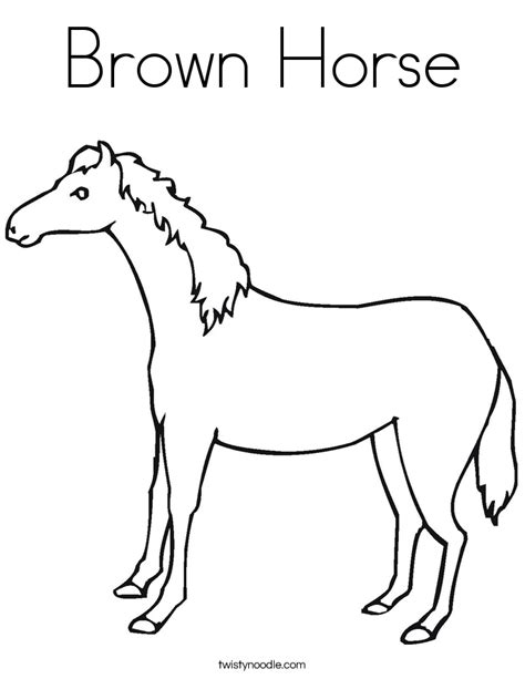 brown horse coloring page twisty noodle