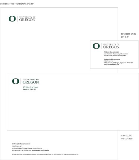 College Letterhead Stationery Digital Communications