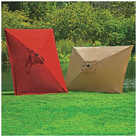 Big Lots Patio Umbrella View Wilson Fisher 174 9 X 6 Rectangular Market Umbrellas Deals At Big Lots
