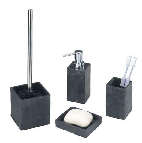 tesco direct bathroom accessories buy wenko slate rock bathroom accessory set 4 parts from