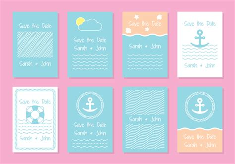 Nautical Card Template by Nautical Invitation Free Vector 4770 Free Downloads
