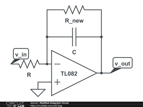 integrator op circuit lab modified integrator circuit circuitlab