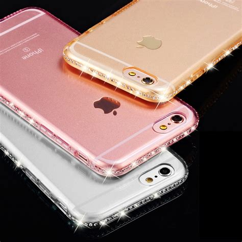 Luxury Soft Back Tpu Sulada Swarovski Iphone 7 for iphone 7 plus transparent luxury rhinestone for