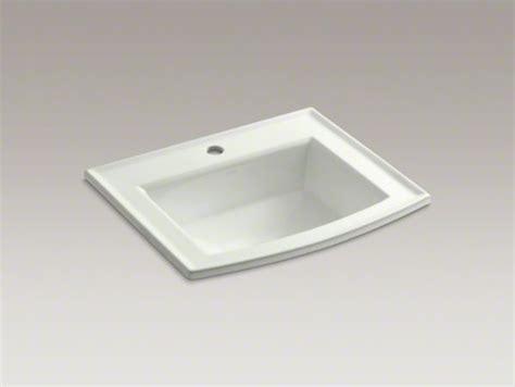 Kohler Archer Bathroom Sink by Kohler Archer R Drop In Bathroom Sink With Single Faucet