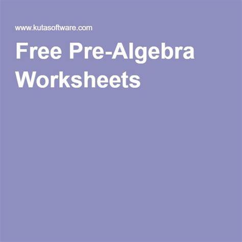 Free Pre Algebra Worksheets by The 25 Best Algebra Worksheets Ideas On
