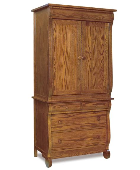 Narrow Armoire Furniture Classic Sleigh Narrow 4 Drawer 2 Door Armoire 2