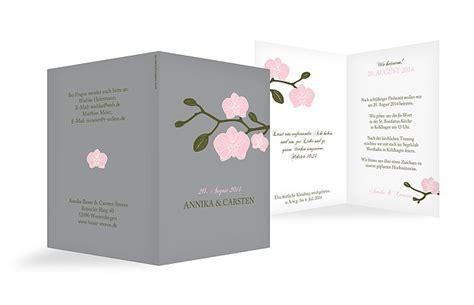 Hochzeitseinladung Orchidee by Hochzeitseinladung Quot Orchidee Quot