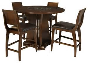 Kitchen Table With Lazy Susan Legacy Commercial 5 Counter Height Dining Set Built In Lazy Susan Transitional