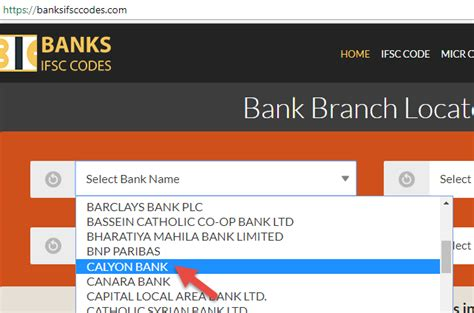 calyon bank how to find ifsc code of calyon bank branches