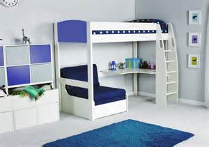 Stompa Bedroom Furniture Stompa Unos High Sleeper Frame With Desk And Chair Bed Only Childrens Beds Beds