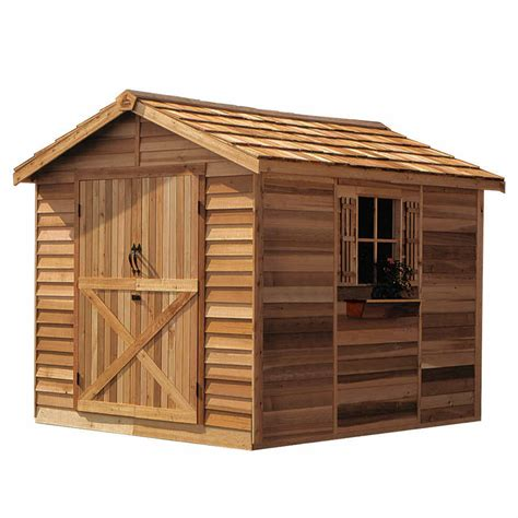 R Shed by Cedarshed Rancher 10x16 Shed R1016 Free Shipping