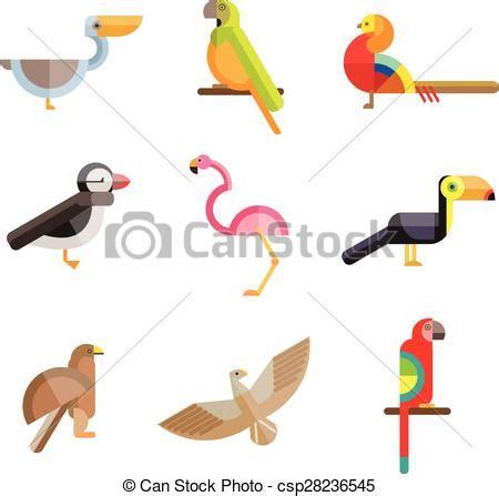 uccelli da appartamento vettore eps di appartamento geometrico fatto figure