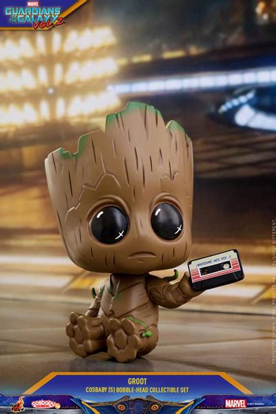 Cosbaby 360 Groot Set Of 3 Guardian Of The Galaxy Vol 2 Toys guardians of galaxy 2 groot cosbaby 3 set figurky a
