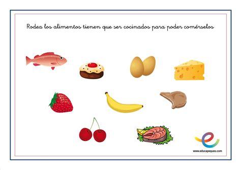 alimentos nutritivos para los niños fichas alimentaci 243 n ni 241 os en primaria