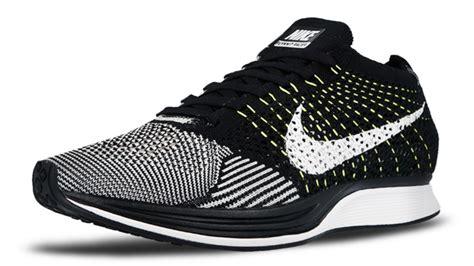 Sneakers Sepatu Nike Airforce Flyknit Racer Oreo Volt Premium40 44 nike flyknit racer white black volt rebelscots de